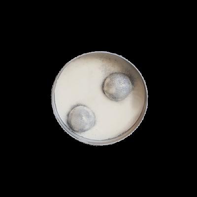 Bougie pot alu musc blanc