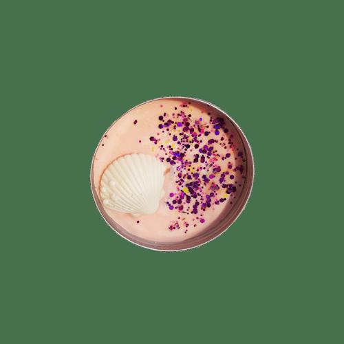 Bougie pot alu - coco vanille