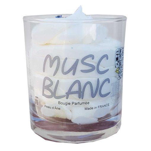bougie parfumée musc blanc
