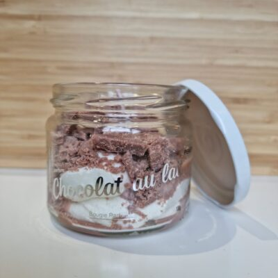 bougie parfumée / chocolat au lait